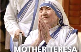 マザーテレサ?合掌